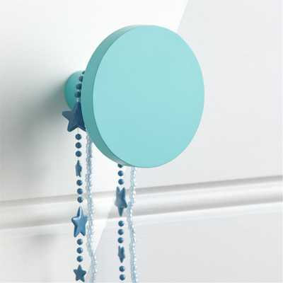 Round Teal Wall Knob - Crate and Barrel