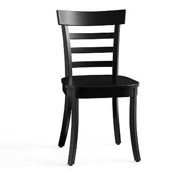 Liam Dining Side Chair, Black - Pottery Barn