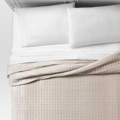 Cream (Ivory) Velvet Grid Stitch Quilt (Full/Queen) - Project 62 - Target