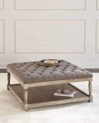Thoma Tufted Square Ottoman - Horchow