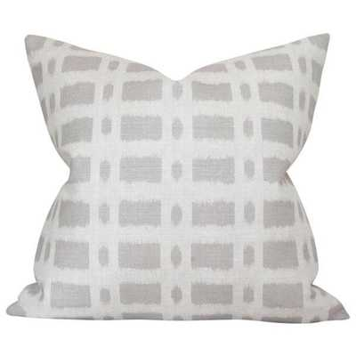 Townline Road Taupe - 22x22 pillow cover / pattern on both sides - Arianna Belle