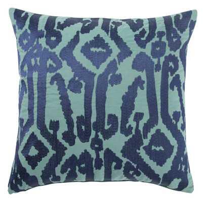 "Design (US) Indigo 18""X18"" Pillow - Collective Weavers"