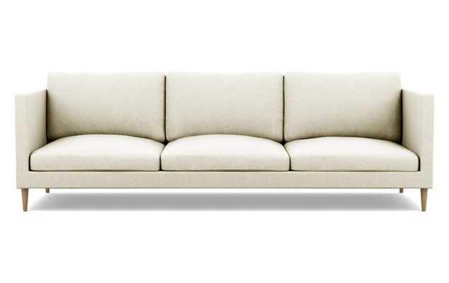 Oliver Sofa with Vanilla Fabric and Natural Oak legs - Interior Define