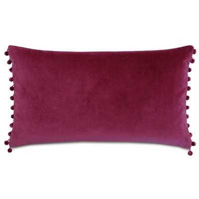 Plush Frou Frou Cotton Lumbar Pillow - Wayfair