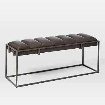 Fontanne Leather Bench - West Elm