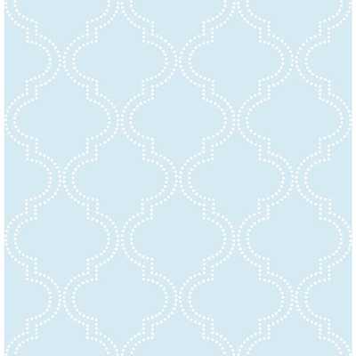 Blue Quatrefoil Peel and Stick Wallpaper - Home Depot