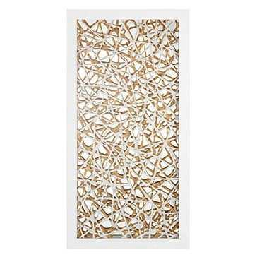 Gilded Reflection - 47.5''W x 24''H - Matte White Frame - No mat - Z Gallerie