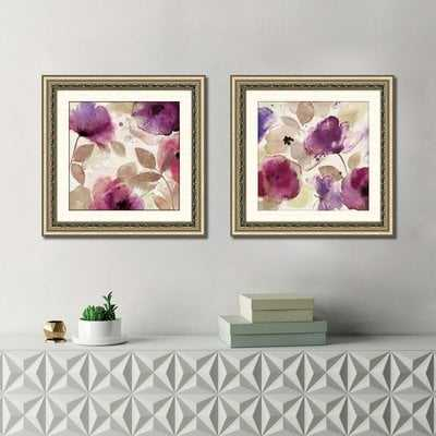 'Firenze II' 2 Piece Framed Watercolor Painting Print Set - Wayfair
