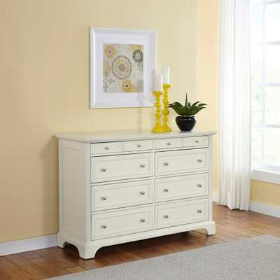 Naples 8-Drawer White Dresser - Home Depot
