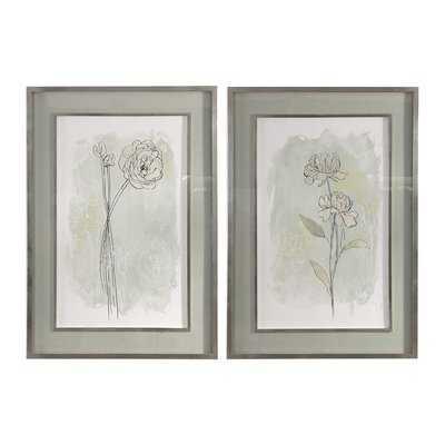 'Stone Flower Study' 2 Piece Picture Frame Print Set - Birch Lane