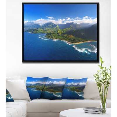'Na Pali Coast Wide View' Framed Photographic Print on Wrapped Canvas - Wayfair