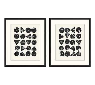 """Dotted Geo Framed Prints, 26 x 31"""", Set of 2 - Pottery Barn"""