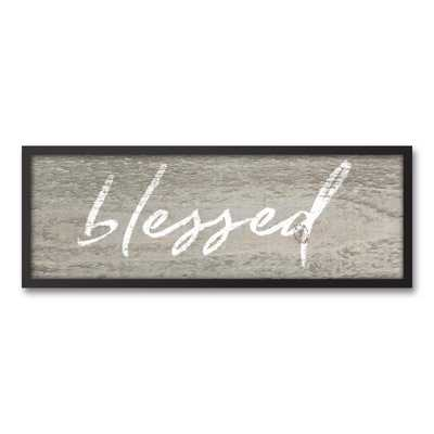 13.73 in. x 37.73 in. ''Rustic Blessed'' Printed Framed Canvas Wall Art - Home Depot