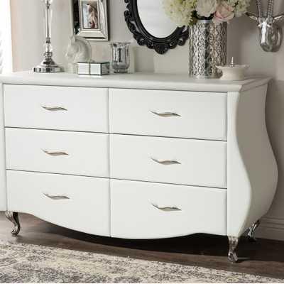 Erin 6-Drawer White Dresser - Home Depot