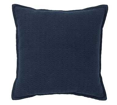 "Mini Diamond Pillow, 16"", Sailor Blue - Pottery Barn"