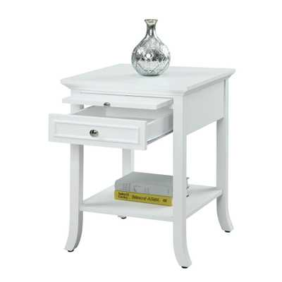 American Heritage Logan White End Table - Home Depot