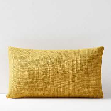 "Silk Handloomed Pillow Cover, 12""x21"", Dark Horseradish - West Elm"
