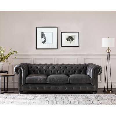 Brinson Leather Chesterfield Sofa - Birch Lane