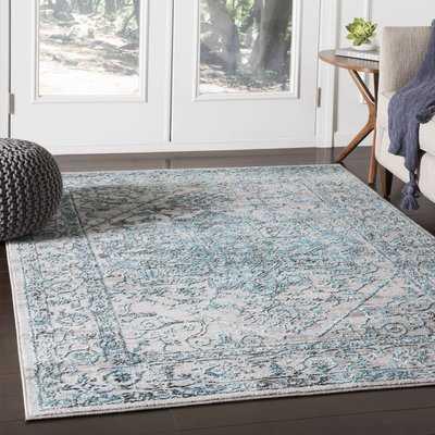 Parramore Oriental Pale Blue Area Rug - Wayfair