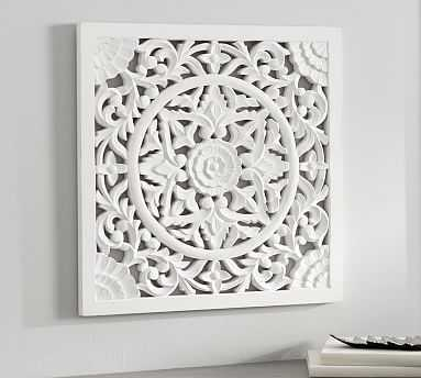 Chelsea Carved Medallion Panel, Ivory - Pottery Barn