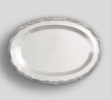 Antique Silver Oval Tray - Pottery Barn