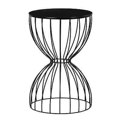 Elle Decor Cami Noir Black Metal Side Table - eBay