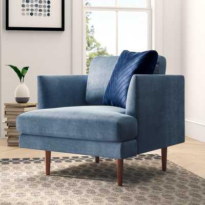 Busse Club Chair - Light Dust Blue Velvet - Wayfair