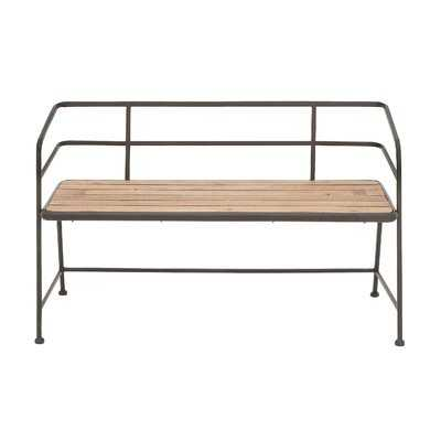 Idell Metal and Wood Bench - Birch Lane