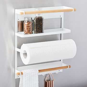 Yamazaki Home Magnetic Kitchen Organization Rack, White - West Elm