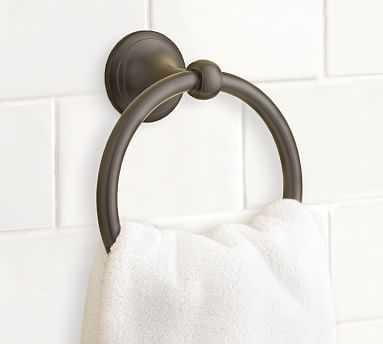 Mercer Towel Ring, Antique Bronze finish - Pottery Barn
