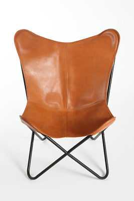 Foundry Select Cochrane Butterfly Saddle Natural Leather Lounge Chair: Saddle - eBay