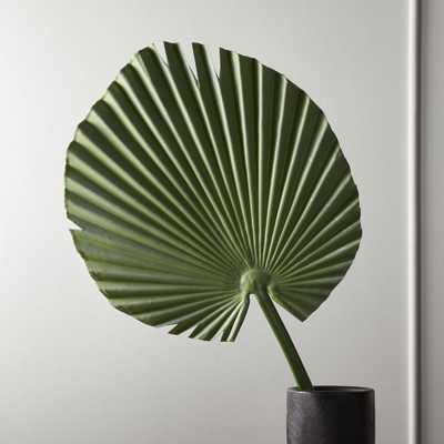 Faux Small Fan Palm Leaf - CB2