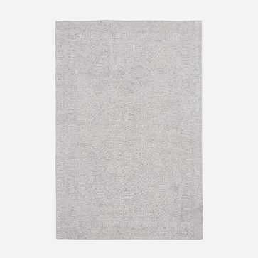 Maze Rug, Platinum, 6'x9' - West Elm