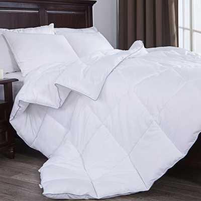 Down Alternative Comforter, Duvet Insert, White, Full/Queen Size - Home Depot