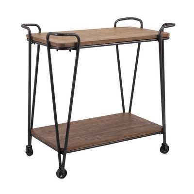 Cottrell Wood and Iron Table - Wayfair