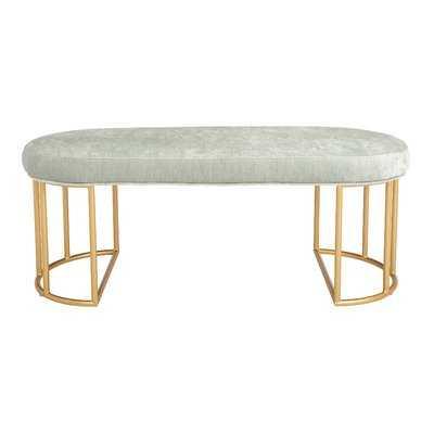 Kirkley Upholstered Bench in mint - Wayfair