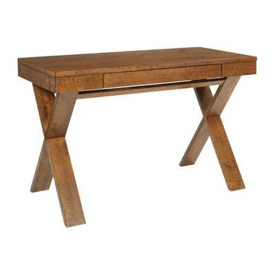 Lane Distressed Wood Desk - Home Depot