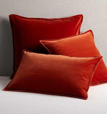 Italian Velvet Pillow Cover - Burnt Orange - Rejuvenation