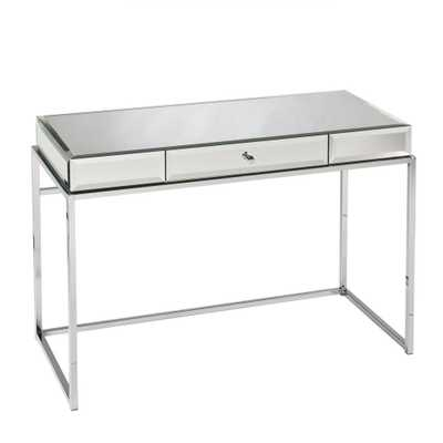 Midland Mirrored with chrome finish frame Desk - Home Depot