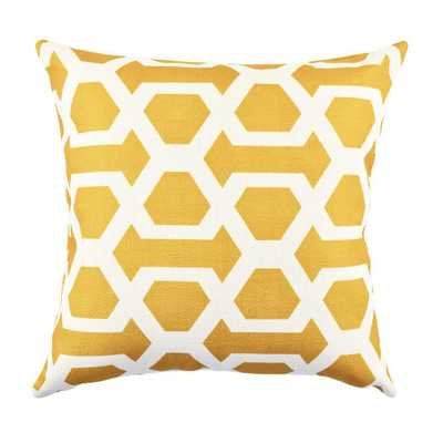 18 in. x 18 in. Bold and Electric Yellow Pillow - Home Depot