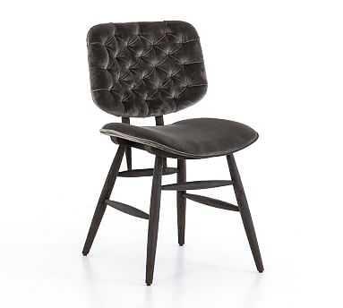 Avant Velvet Tufted Dining Chair - Pottery Barn