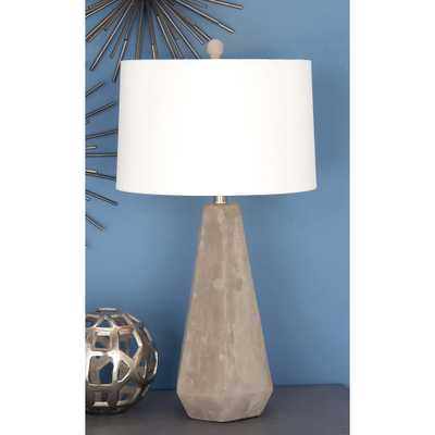 28 in. Traditional Ceramic Gray Table Lamp - Home Depot