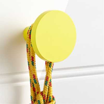 Round Yellow Wall Knob - Crate and Barrel