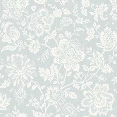 SK Filson Floral Blue Trail Wallpaper 56 sq. ft. - Home Depot