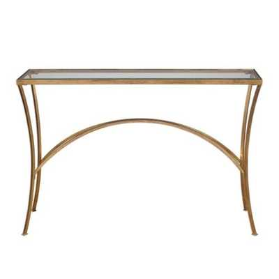 Uttermost Alayna Gold Console Table - 24640 - eBay
