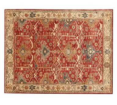Channing Persian Rug, 8 x 10', Red - Pottery Barn