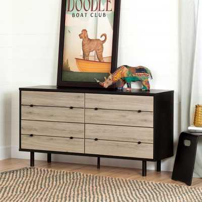 Morice 4-Drawer Ebony and Rustic Oak Dresser - Home Depot
