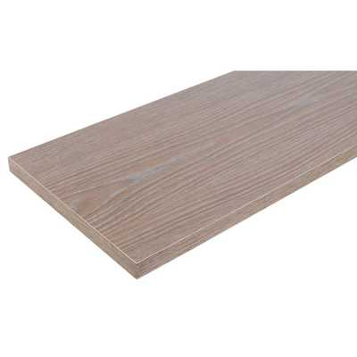 12 in. x 36 in. Gray Laminated Wood Shelf - Home Depot