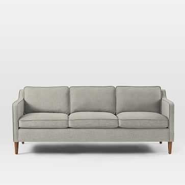 """Hamilton Upholstered 81"""" Sofa, Twill, Stone - West Elm"""