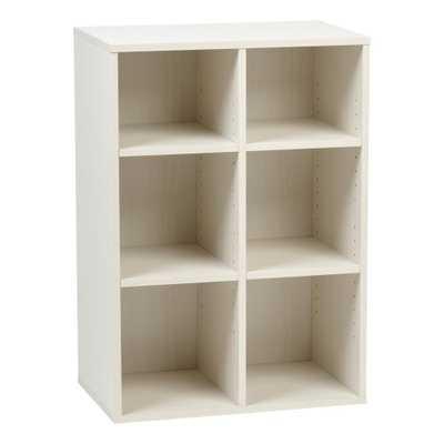 Collan Series Off-White 6-Cube Wood Shelf, White - Home Depot
